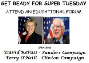 160224 Clinton Sanders Forum
